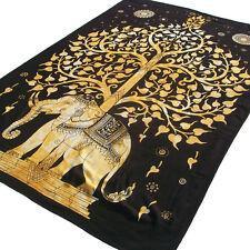 arbre éléphant TAPISSERIE TENTURE mural Indien Hippie Bohème Jeté de lit décor