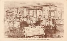 An Illustrated View Of The French Village Restaurant, Louisville, Kentucky KY
