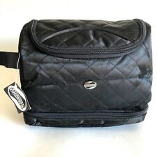 Woman's American Tourister Hanging Toiletry Bag Black Soft Case Bag