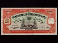 British West Africa:P-8b,20 Shillings,1949 * Palm Tree * VF *