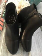 NIB Jack Rogers Bailee Black Leather Boots Ankle Bootie Women's Size 9 MSRP $140