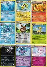 Eevee Evolution 9 Pokemon Card Set - Jolteon - Flareon - Vaporeon - Umbreon - NM