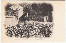 FRANCE - Lourdes - Une messe a la Grotte - Grotto Mass - c1900s era postcard