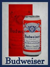 Budweiser Lager Beer Can Metal Sign