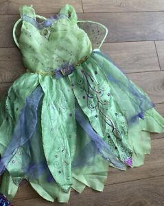 Disney Girls Tinkerbell Fancy Dress Age 5-6