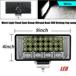 "10.5"" Aluminum Work Light Flood Spot Beam Car SUV Offroad Boat Driving Fog Lamp"