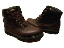 MEN'S WOLVERINE BOOTS, LEATHER UPPER - SIZE 10