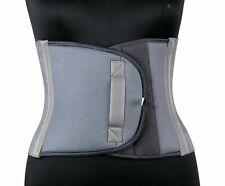 Compression Slimming Belt Stomach Back Support & Abdominal Binder Wrap GREY UK