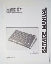 Original Electro-Voice Series 52  Tapco Stereo Mixers Service Manual EVT 5212