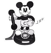 Vintage Mickey Mouse Animated Talking Telephone - Disney Phone 1997 Telemania