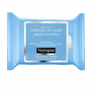 Neutrogena Makeup Remover Cleansing Towelettes 25 Wipes Ultra Soft Cloths 205 gm