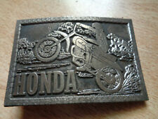Vintage Honda Belt Buckle Motorcycle Dirt Bike Biker Emblem Patch Shirt Hat Pin