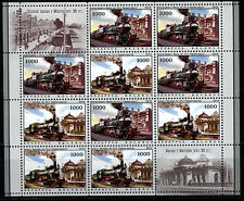 2010. Belarus. Locomotives and Railway Stations.M/sh. MNH