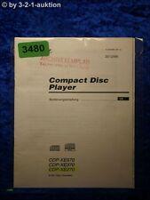 Sony Bedienungsanleitung CDP XE570 /XE370 /XE270 CD Player (#3480)