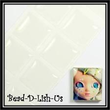 10pcs 20x18mm Scrabble Tile Clear Epoxy Sticker DIY Cameo Pendant Scrapbooking