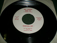 Room 205 Will Sherman~RARE White Label Promo Country Ballad 45 RPM~FAST SHIPPING