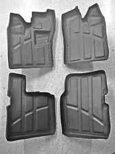 4pc KIT Polaris RZR 4 Rubber floor mats liners, Front & Back 800, 900  2010-2014