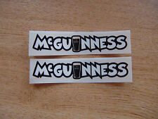 2x John Mcguinness decals - isle of man races - 100mm x 20mm