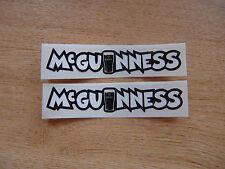 2x John Mcguinness decals - isle of man races - 100mm x 20mm