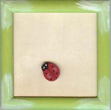 RICO DESIGN  07599  Cadre carré avec Motif Coccinelle à coller