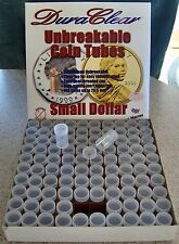 100 SMALL DOLLAR COIN TUBES - NEW - DuraClear brand - Made in the U.S.A.