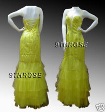 ABSOLUTELY HEAD-TURNING! YELLOW BEADED FORMAL/PROM/EVENING LONG DRESS; AU 8/US 6