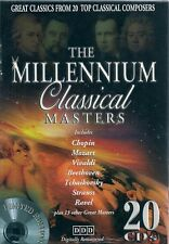 COFFRET 20 CDs--THE MILLENIUM CLASSICAL MASTERS--CHOPIN/BEETHOVEN/MOZART/RAVEL
