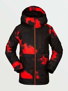Brand New Boys 2021 Volcom Holbeck Insulated Jacket Magma Smoke
