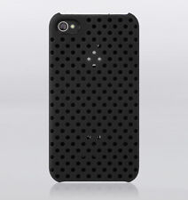 Incase iPhone 4 4S Perforated Snap Hard Shell Case Cover w Stand Black