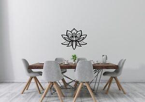 Lotus Flower Inspired Design Home Bedroom Nature Wall Art Decal Vinyl Sticker