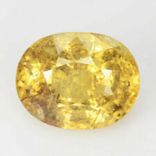 GIL Certified 1.96 Cts Natural Greenish Yellow Sapphire Unheated Oval Shape Gem