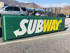 GIANT Subway Sandwich Restaurant 10ft Highway Road Sign - Retired Vintage Store