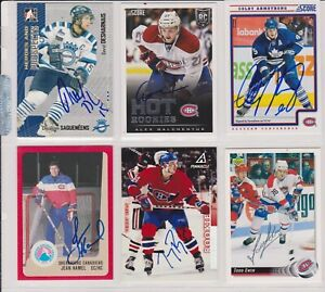 MONTREAL CANADIENS LOT OF 6  CARDS SIGNED-AUTOGRAPHED   LOT NO-342