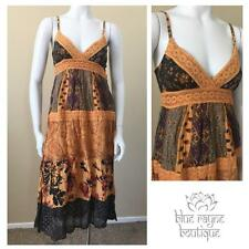 Bohemian Vintage Inspired Gypsy Cotton Patchwork Free Size Maxi Sun Dress #21