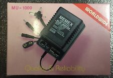 MEMEX mu-1000 mA Universal AC/DC Adapter 1.5-3-4.5-6-6.5 9-12V Buy 2 get 1 FREE