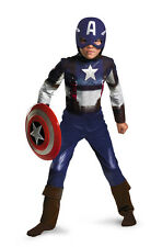 Boys Captain America Retro Costume Size Large 10-12