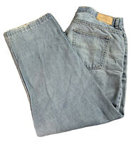 Open Trails Work Faded Work Blue Jeans Mens Size 36x32