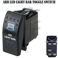 LED Light Bar 12V ARB Carling Rocker Waterproof Toggle Switch Blue Car Boat AT