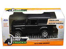 JADA JUST TRUCKS 97050 1973 73 FORD BRONCO 1/32 DIECAST MODEL CAR BLACK