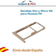 Bandeja Soporte Sim y Micro SD para Huawei Ascend P9 Dorado - Nueva !!!