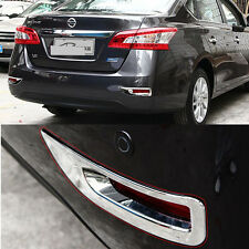 Fit For 2013-2015 Nissan Sentra Rear Fog Light Lamp Chrome Cover Trim Molding