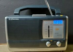 Emerson AM/FM/Weather Band Portable Radio Model RP6251 - Tested