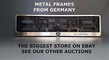 Metal Frame Steel Holder For European License Plate Stainless Mercedes Benz v.4