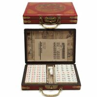 Mah-Jong Chinese Numbered Set 144 Tiles Set Portable Chinese Party Game Board