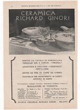Pubblicità epoca 1930 RICHARD-GINORI CERAMICHE advert werbung publicitè reklame