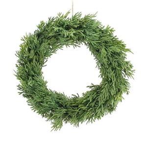 Thuja Wreath On Vine 33cm Single Sided, Artificial, Door Wreath, Advents Wreath