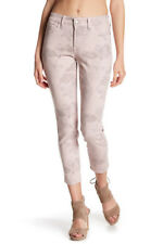 NYDJ Women's Clarissa Skinny Ankle Jeans Printed Floral Size 14 P Petite Pink