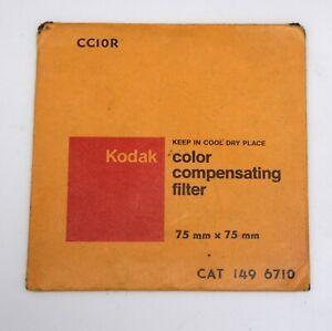 Kodak #CC10R RED 3in/7.6cm Square Wratten Gelatin Filter Vintage Photo Accessory