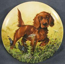 Missing The Point Irish Setter Collector Plate Field Puppies Lynn Kaatz Dog