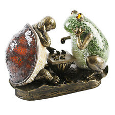 Art Deco Frog & Tortoise Table / Side Lamp Tiffany Crackle Glass.New